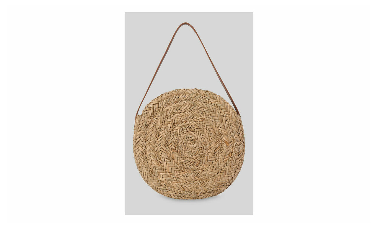 Etty Large Circular Straw Bag
