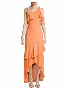 One-Shoulder Silk Maxi Dress