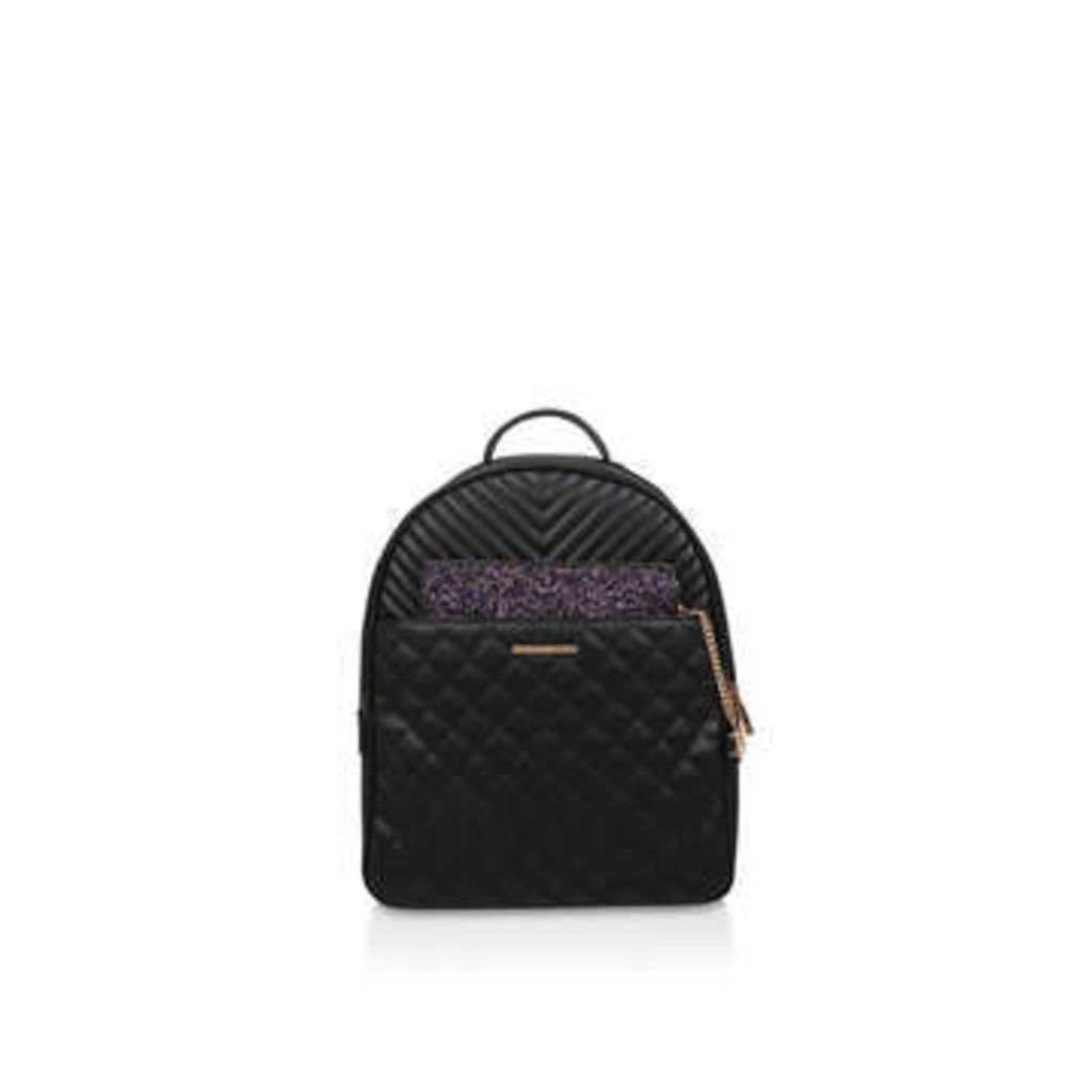 Aldo Spiros - Black Quilted Backpack With Detachable Clutch Bag