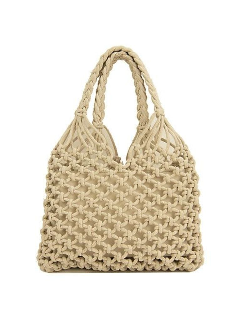 Summer Caged Macrame Hobo Bag