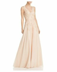 Avery G Floral-Embellished Ball Gown