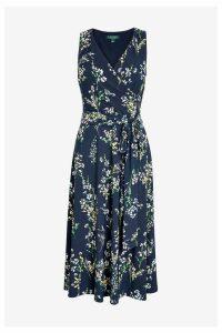 Womens Lauren Ralph Lauren Navy Carana Floral Dress -  Blue