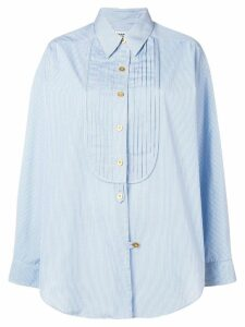 Chanel Pre-Owned 1980's micro check loose shirt - Blue