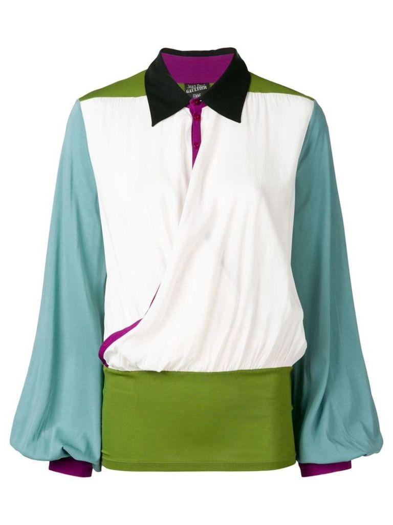 Jean Paul Gaultier Vintage 1990's block colour blouse - White