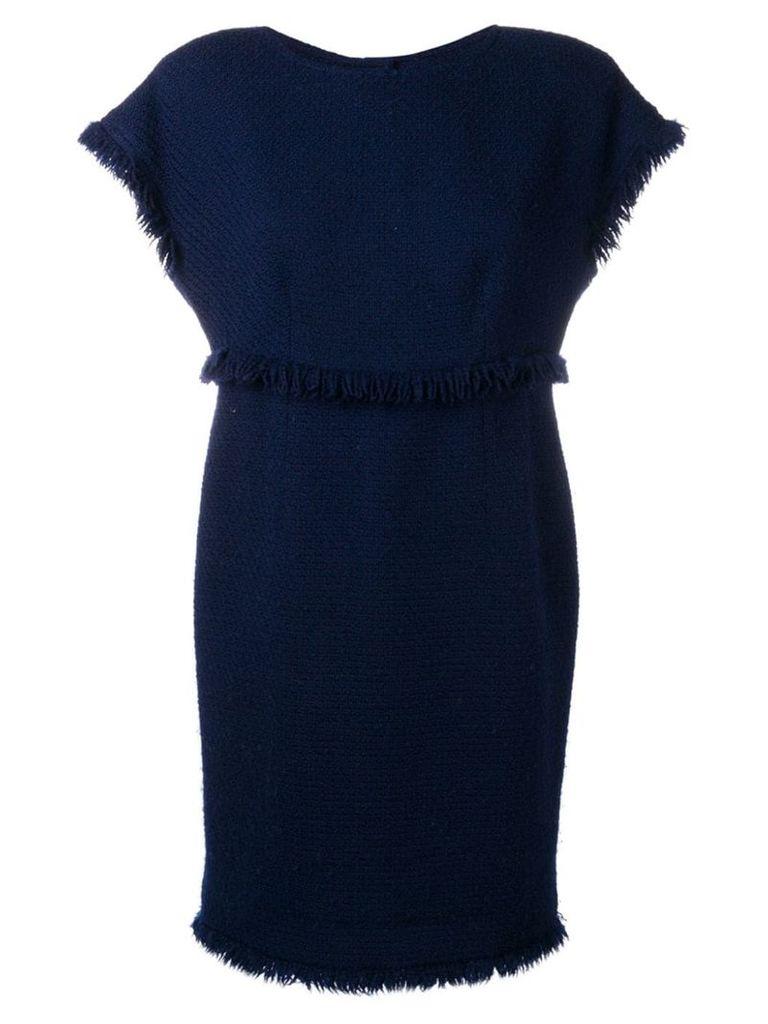 Chanel Vintage 1990's fringed knitted dress - Blue