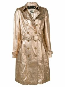 Burberry Pre-Owned 1990's double-breasted metallic coat - Gold