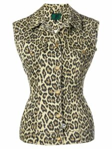 Jean Paul Gaultier Pre-Owned 1990's leopard printed vest - Yellow