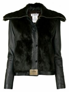 Givenchy Pre-Owned 2000's twist-lock leather jacket - Black