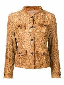 Prada Pre-Owned 2000's slim skin jacket - Brown