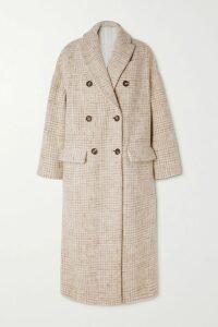 Retrofête - Grace Velvet-trimmed Sequined Satin Mini Wrap Dress - Gold