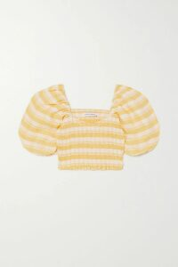 Mes Demoiselles - Bodega Embellished Embroidered Cotton-voile Dress - Off-white