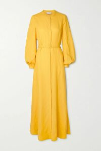Stella McCartney - Ruffled Floral-print Silk-crepon Mini Dress - Blush