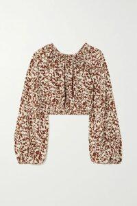 Prada - Cutout Cotton-poplin Shirt - White
