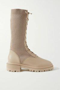 Burberry - Wool And Stretch-knit Blazer - Gray