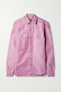 Alessandra Rich - Pleated Polka-dot Silk-georgette Midi Skirt - Navy