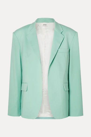 Attico - Wool-blend Gabardine Blazer - Light green
