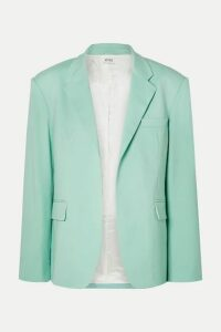 Attico - Wool-blend Gabardine Blazer - Light green