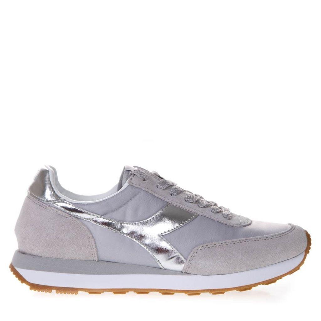 Diadora Heritage Koala H Metallic Sneakers W In Gray Fabric