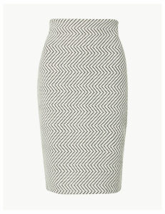 M&S Collection Jacquard Pencil Skirt