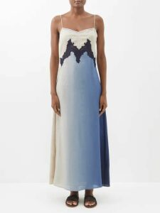 Carolina Herrera - Floral Print Chiffon Midi Dress - Womens - Red Multi