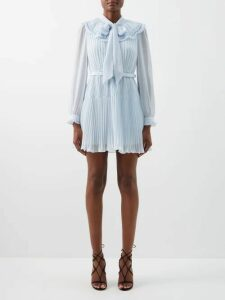 Bottega Veneta - Melange Jersey Skirt - Womens - Grey Multi