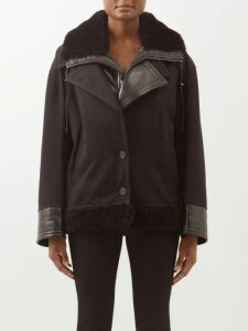 Sara Battaglia - V Neck Fringed Sleeve Wrap Dress - Womens - Yellow Multi