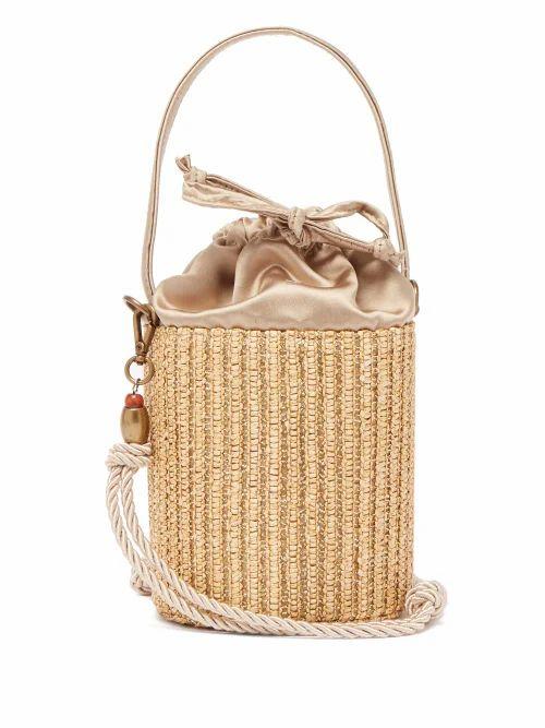 Glorinha Paranagua - Elba Straw Bucket Bag - Womens - Nude