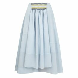 Loewe Blue Cotton-blend Skirt