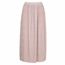 Filippa K Pink Plissé Midi Skirt