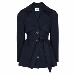 Khaite Billy Navy Cotton-twill Trench Coat