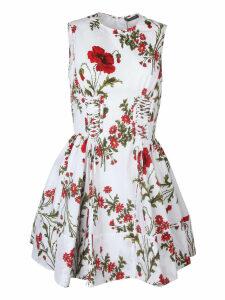 Alexander McQueen Floral Print Mini Dress