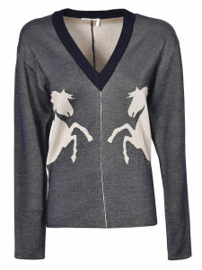 Chlo © Horse Embroidered Sweater