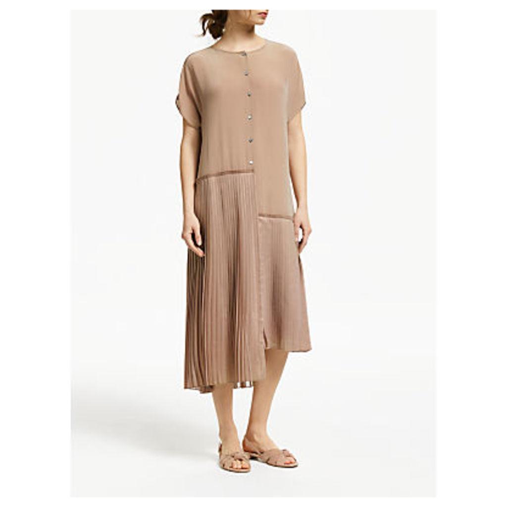 Modern Rarity Chopped Pleat Dress, Natural