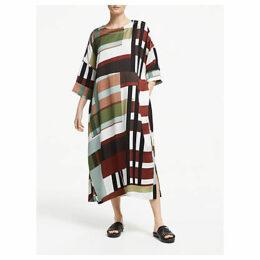 Kin Kiso Check Print Dress, Multi