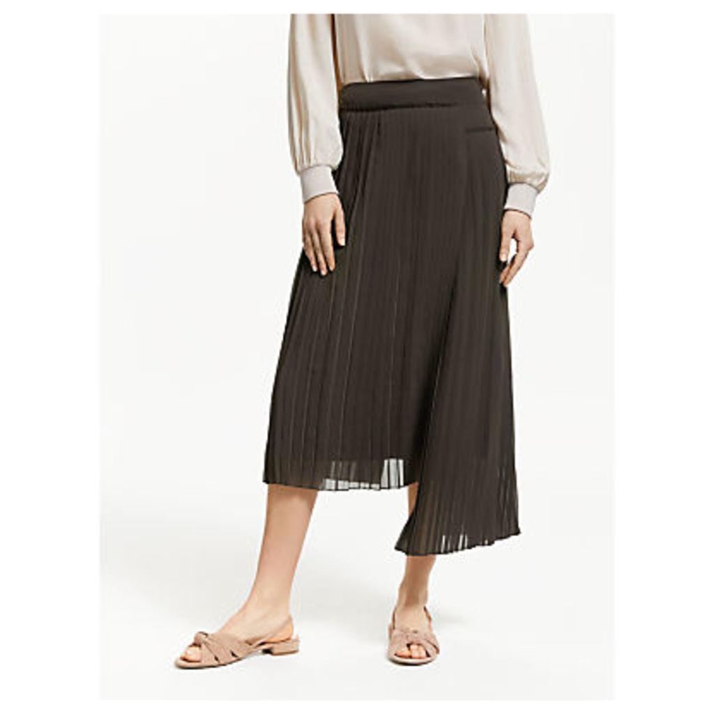 Modern Rarity Chopped Pleat Midi Skirt, Brown