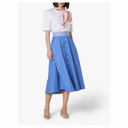 L.K.Bennett Alela Striped Skirt, Multi/Blue