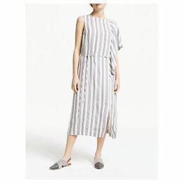 Modern Rarity Drape Striped Dress, Natural