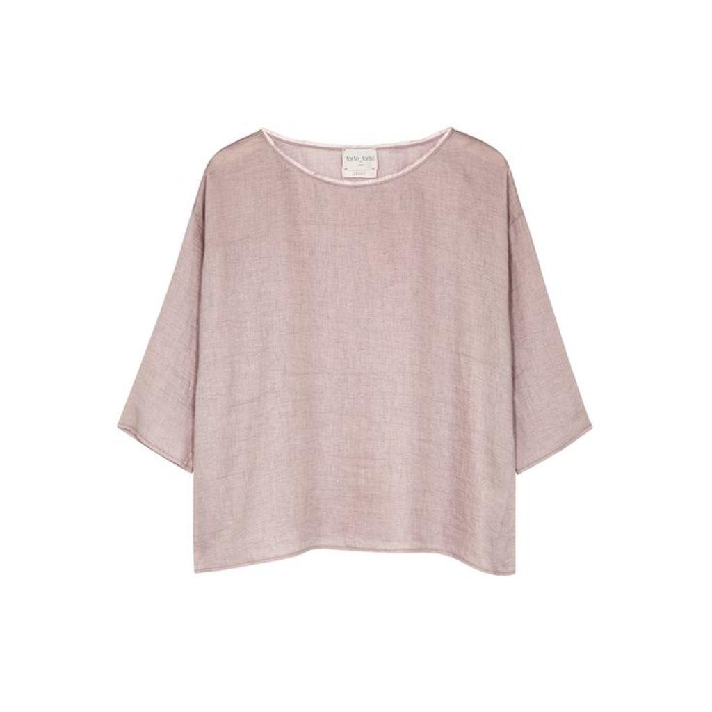 Forte forte Dusty-pink Linen-blend Top