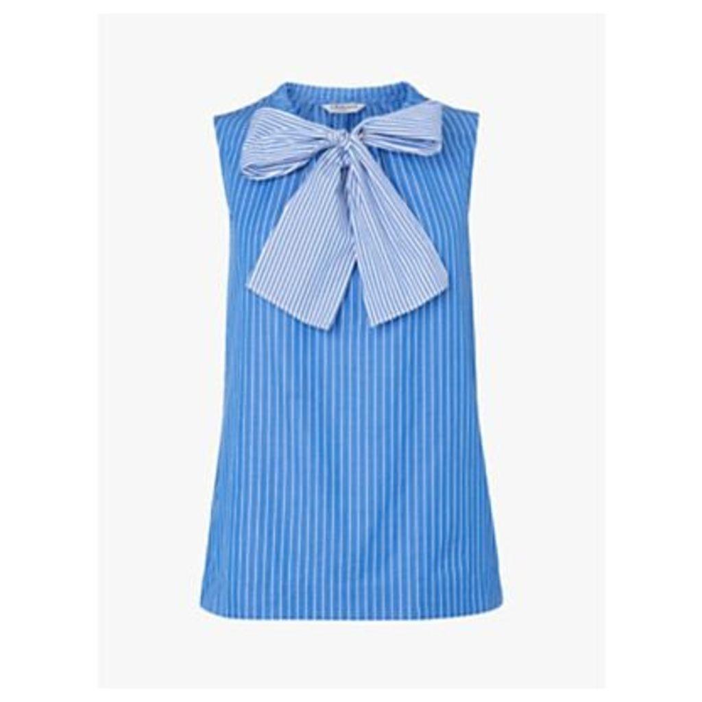 L.K.Bennett Alela Stripe Cotton Top, Multi/Blue
