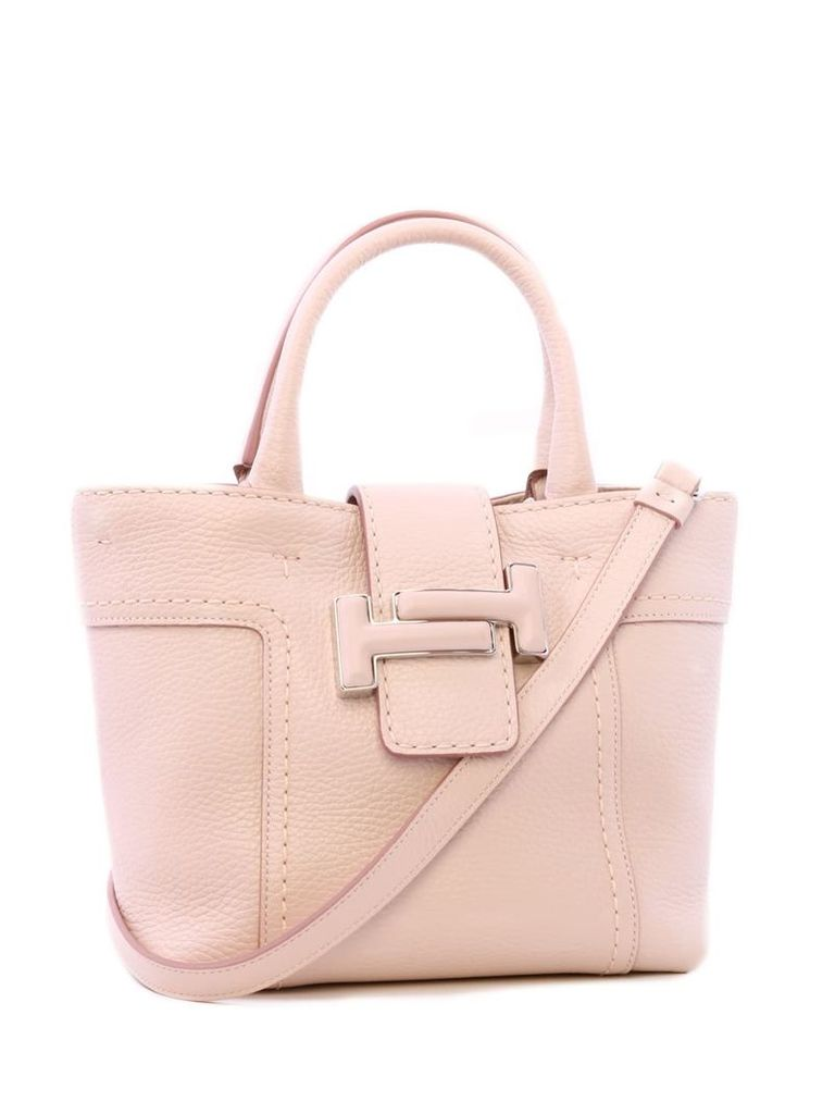 Tod's Mini Shopping Double T Rosa