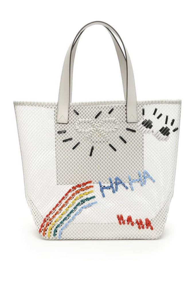 Anya Hindmarch Rainbow Woven Tote Bag