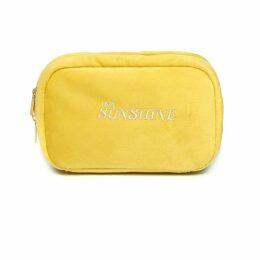 PAISIE - Two-Tone Satin Wrap Top With Tie Waist & Split Sleeves In Metallic Blue & Rustic Orange