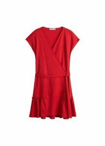 Bow wrap dress