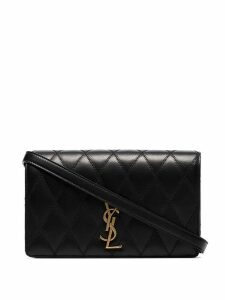 Saint Laurent Angie quilted shoulder bag - Black