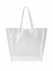 Stella McCartney transparent medium tote bag - White