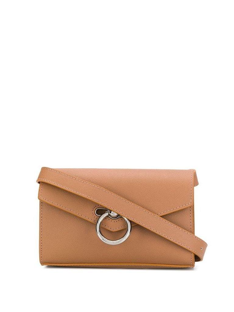 Rebecca Minkoff metallic hoop bag - Brown