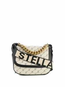 Stella McCartney monogram logo shoulder bag - Neutrals