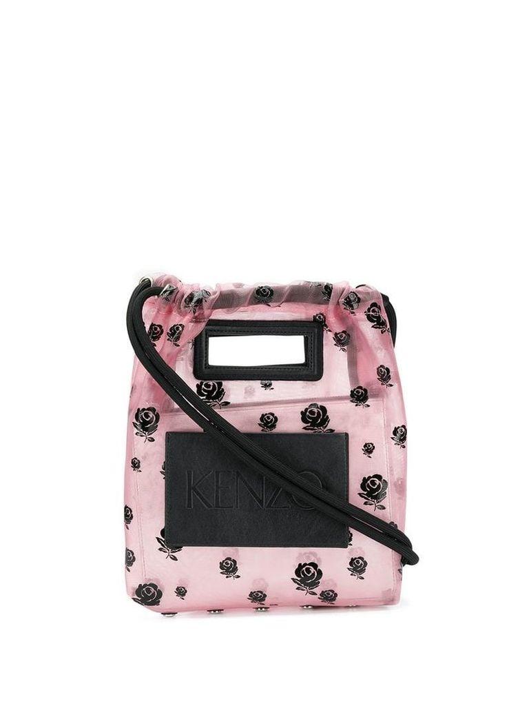 Kenzo Roses print bucket bag - Pink