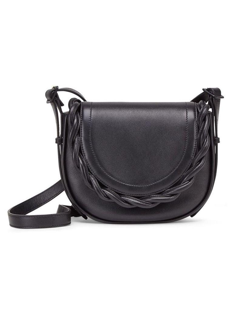 Marco De Vincenzo Idda braided shoulder bag - Black