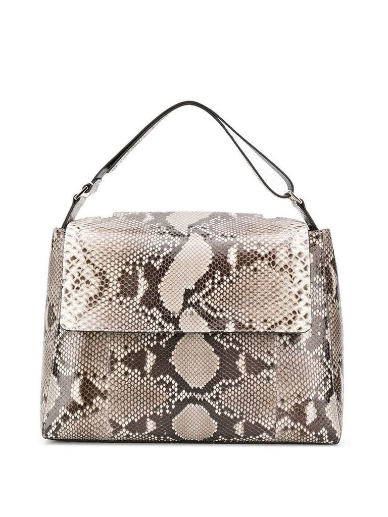 Orciani snakeskin effect tote - Neutrals